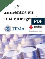 Agua y Alimentos en Una Emergencia - FEMA