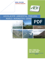 LEGISLACIÓN  AMBIENTAL PERUANA.           Marco Normativo General