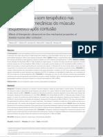 2008 Efeitos do ultra-som terapêutico nas propriedades mecânicas do músculo esquelético após lesão