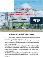 Power Sys Protect Lec9b - Voltage Transforner