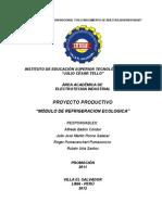 Modulo de Refrigeracion Ecologica (Alfredo Balbin Condor)