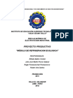 Modulo de Refrigeracion Ecologica (Ruben Uria Santos)