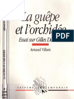45274415 Arnaud Villani La Guepe Et l Orchidee Essai Sur Gilles Deleuze