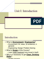 Unit I Environmental Engineering I