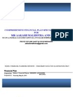 Aakash Malhotra Model Financial Planning Reports