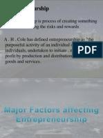 Presentation on factors affecting entreprenuership