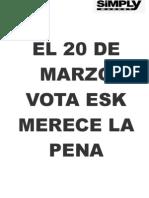 El 20 de Marzo Vota Esk