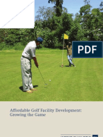 Affordable Golf Facility Development - Growing the Game Oct 2012