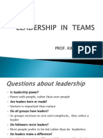 Leadership in Teams Prof.kiran