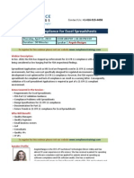 21 CFR 11 Compliance for Excel Spreadsheets