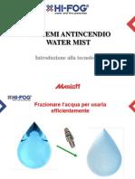 Introduzione Alla Tecnologia water mist