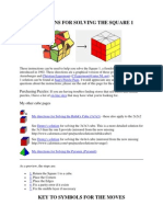 Directions for Solving the Square 1 Cube