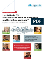Les d Fis Du DSI r Duction Des Co Ts Et Innovation Quelle Rupture Engager
