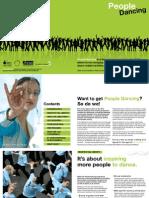 People Dancing brochure
