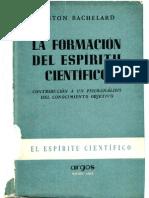 Bachelard-La Formacion Del Espiritu Cientifico