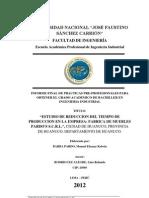 Estudio de Reduccion Del Tiempo de Produccion en La Fabrica de Muebles Pardo Scrl