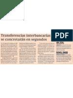 Las transferencias interbancarias se concretaran en segundos