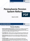 Pennsylvania Pension System Reform Briefing Pension Reform -- Office of the Budget