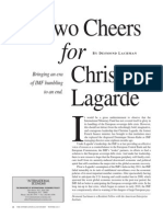 Two cheers for Christine Lagarde
