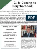 Agenda 21 is coming to your neighborhood! Brunswick