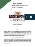 MD DBM Strategic Budgeting Services RFP