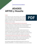 ARTES y filosofía