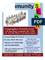 Congregation Kneseth Israel Community Seder