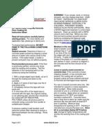 Diy Polyurea Instruction Sheet