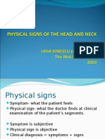 Physical Signs of the Head and Neck
