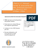 2013 Nonprofit Career Fair Flyer