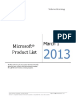 MicrosoftProductList(Worldwide)(English)(March2013)(CR)