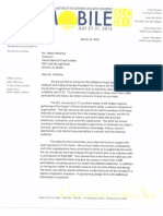 Southern Legislative Conference (SLC Mobile cmmte) Letter to Poarch Band of Creek Indians March 22, 2012