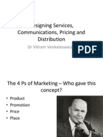 Creating Services, Communications Mix, Pricing and Distribution