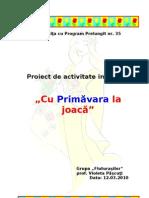 Proiect-De-Activitate-Integrata Dlc Dos- Surprizele Primaverii, Gradina Cu Flori