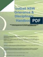 2013 Football NSW Grievance & Disciplinary Handbook
