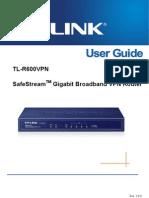 Tl-r600vpn v1 User Guide