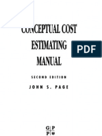 Conceptual Cost Estimating Manual
