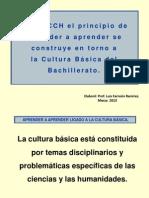 Aprender a aprender ligado a la cultura básica