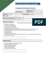 Term Checklist