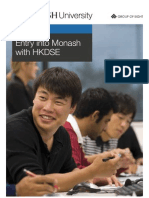 Entry into Monash with HKDSE