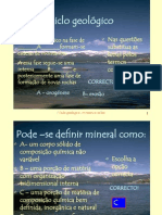 6.2Questões - Ciclo geológico, minerais e rochas