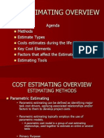 Cost Estimating Overview