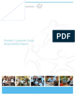 Moody's Corporate Social Responsibility - With letters from Moody's CEO Raymond McDaniel & Moody's Foundation President Frances Laserson