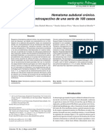 Hematoma subdural. análisis de 100 casos