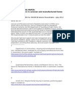 Briefing Paper - Marginal renters in caravan and manufactured home parks