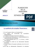 Planeacion de La Auditoria de Estados Financieros 2011