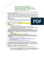 Aula 01 Mac115-2s-2011 Informacoes Gerais
