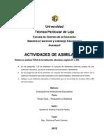 Analisis FODA de una institución educativa.