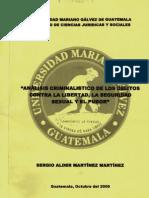 Delitos Contra La Libertad Sexual - Post Graduacion