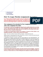 How to Argue Florida Assignments to Judges